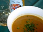 Butternut Squash Soup with Roasted Ginger