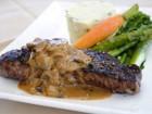 Steak Au Poivre with Green Peppercorn Sauce