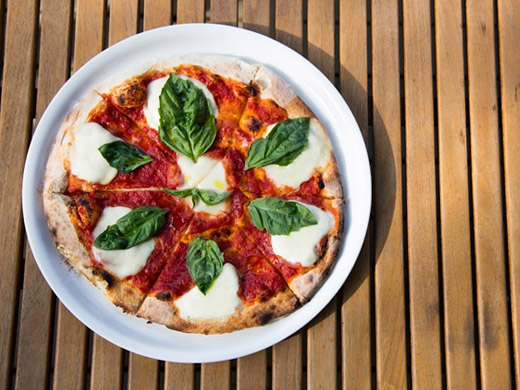 Classic Margherita Pizza served at The Restaurant